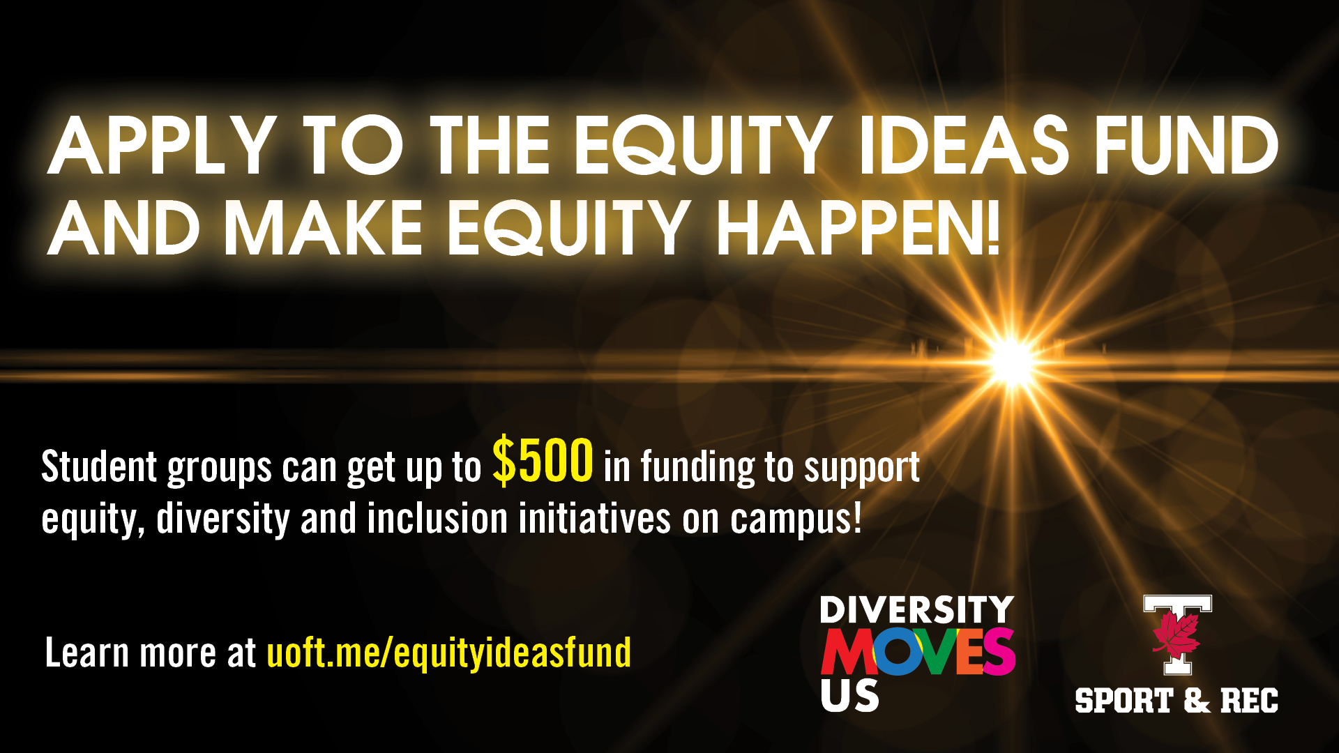 graphic with text: apply to the equity ideas fund and make equity happen