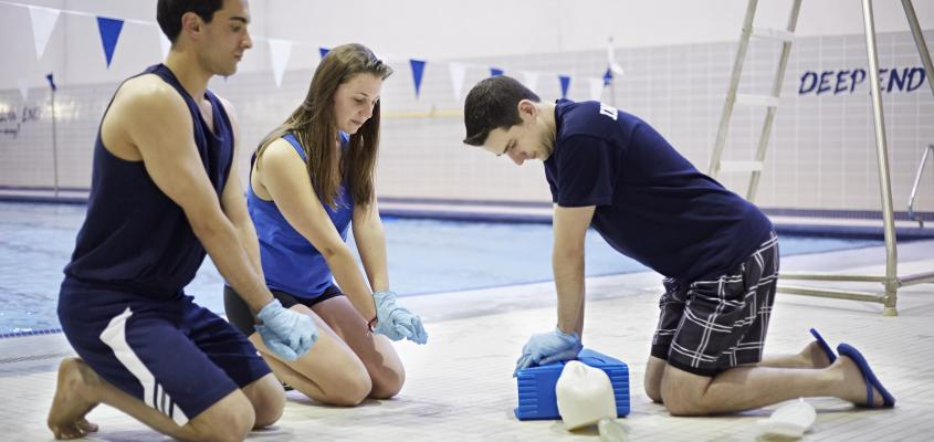 Participants learn CPR