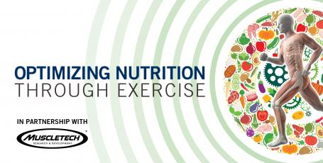 event poster with title 'optimizing nutrition through exercise'
